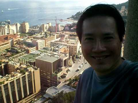 Julian Cheah In Monte-Carlo, Monaco - Aerial View From The Exotic Gardens - Video 1 - September 2010