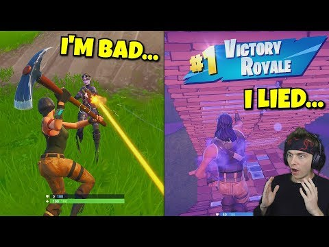 i pretended to be a FAKE NOOB and shocked random players ... (funny reactions)