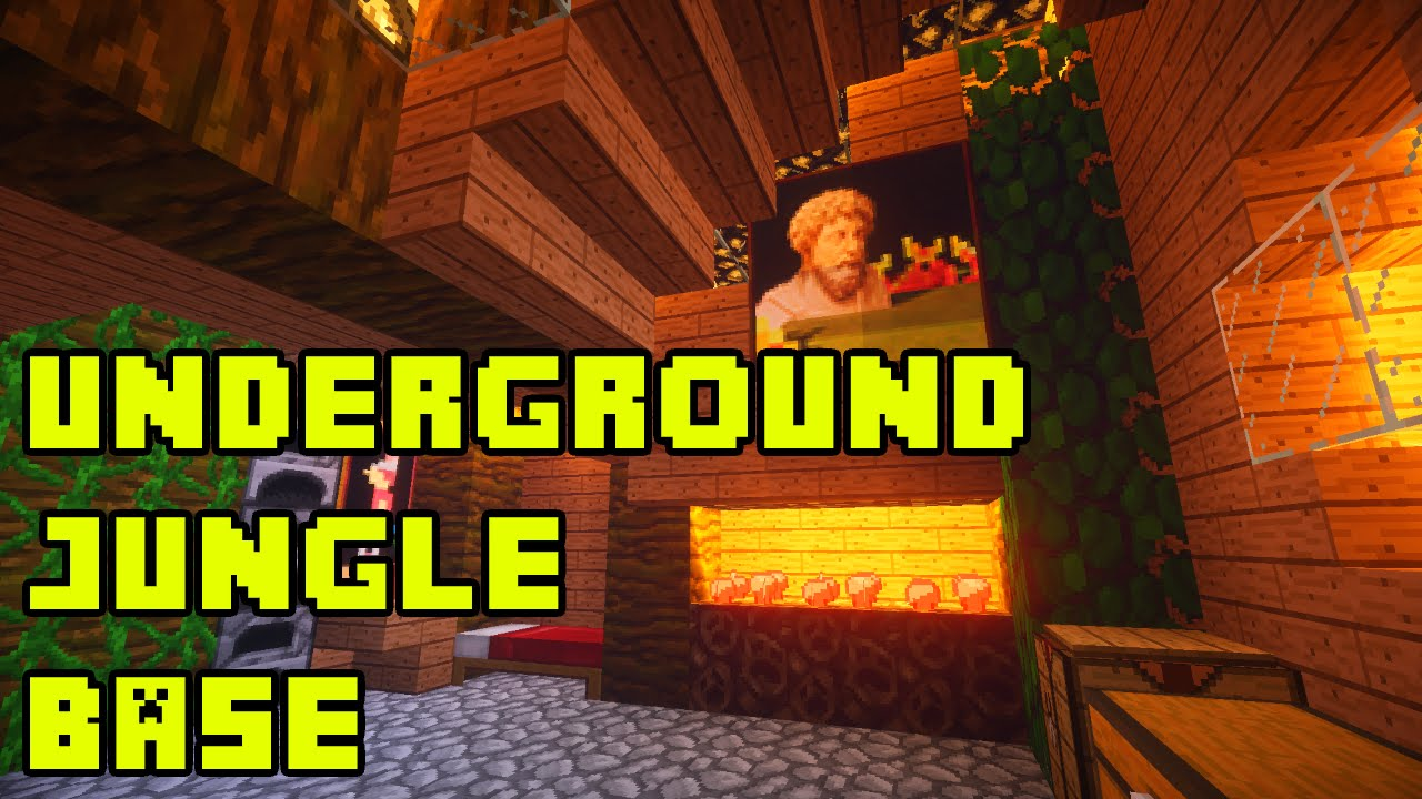 Minecraft underground jungle house base tutorial xbox pe for Jungle house music