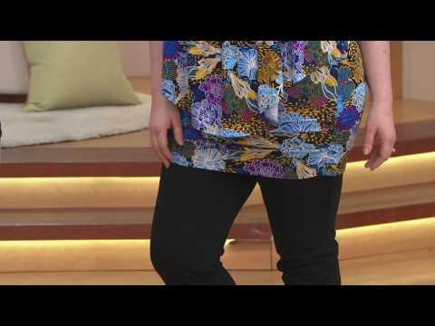 Shape FX Ponte Knit Pull-On Slim Leg Ankle Pants On QVC