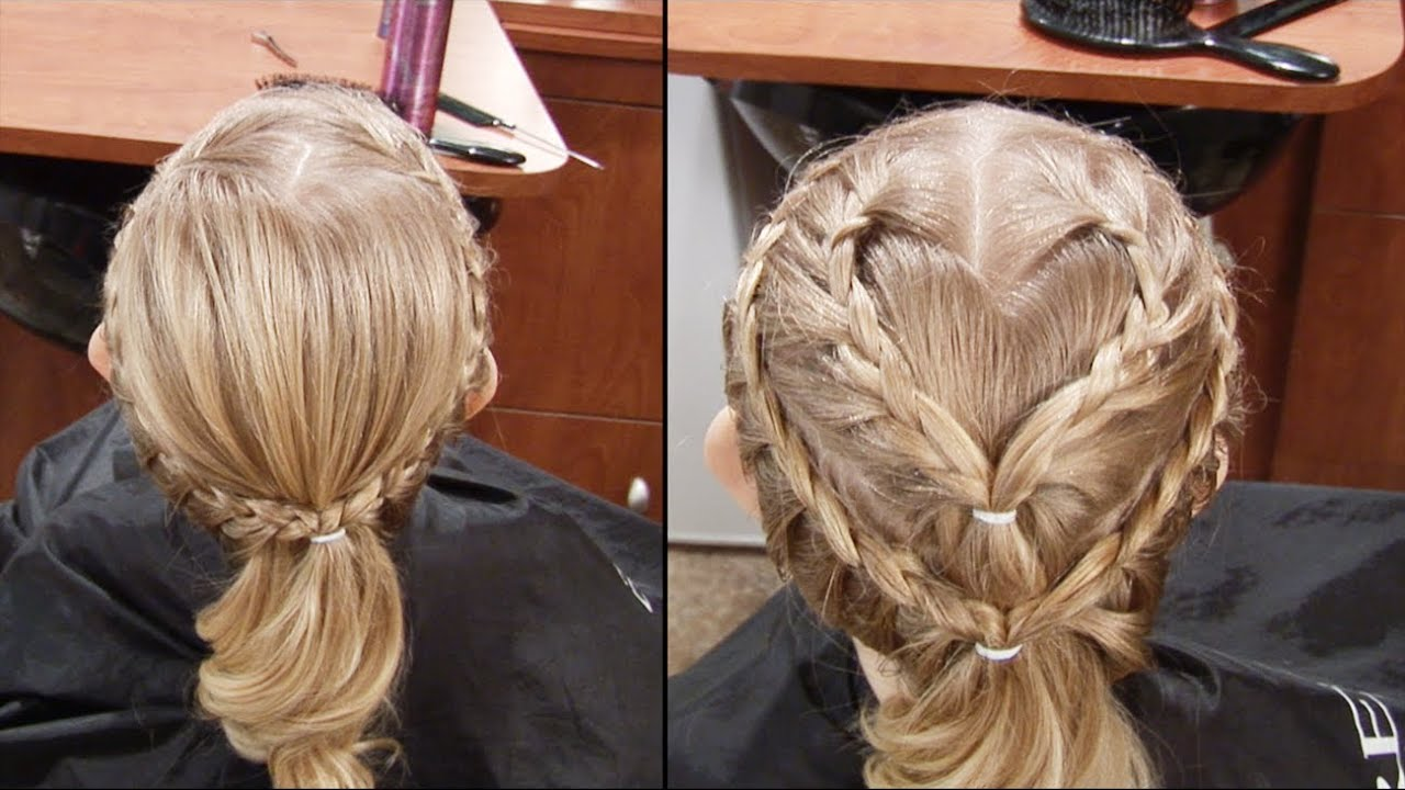 Valentines Day Hair Cute French Braid Heart Hair