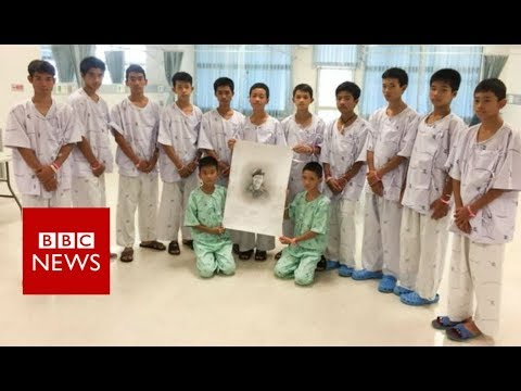 First video messages from rescued Thai boys - BBC News