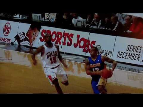 Shannon Brown Facial Slam on Brad Miller - Lakers @ Bulls - 12/15/09