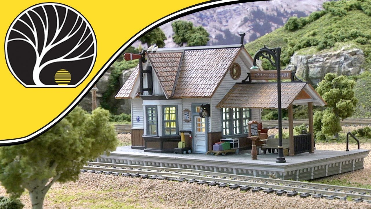 Woodland Scenics BR5052 HO Scale The Depot Built /& Ready LED Lighting BUILDING