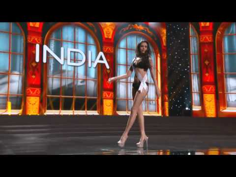 India - MANASI MOGHE - Miss Universe 2013 Preliminary Competition [HD]