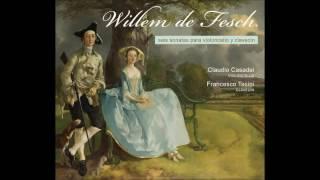 Willem de Fesch (1687-1761) Cello Sonatas, Claudio Casadei