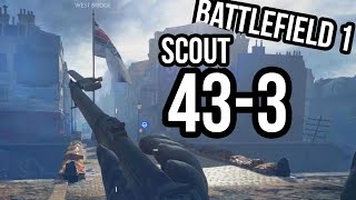 "BATTLEFIELD 1 ""MUSKET""/MEDIC GAMEPLAY 43 KILLS! BF1 Conquest Amiens"
