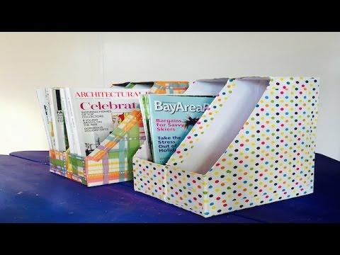 8fb3a9830 Como Hacer Organizador de Libros y Revistas hecho de Cajas de Cereal  Recicladas - YouTube