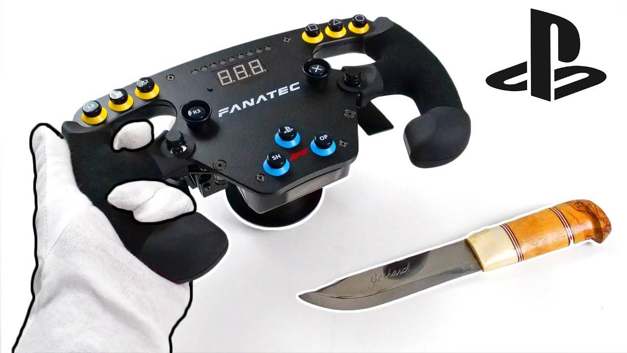 $600 PS4 Esports Racing Wheel Unboxing - Fanatec PlayStation 4 F1 Wheel Set  (Gran Turismo Sport)