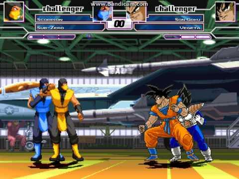 MUGEN Battle #0006 - Team Mortal Kombat vs Team Dragon Ball
