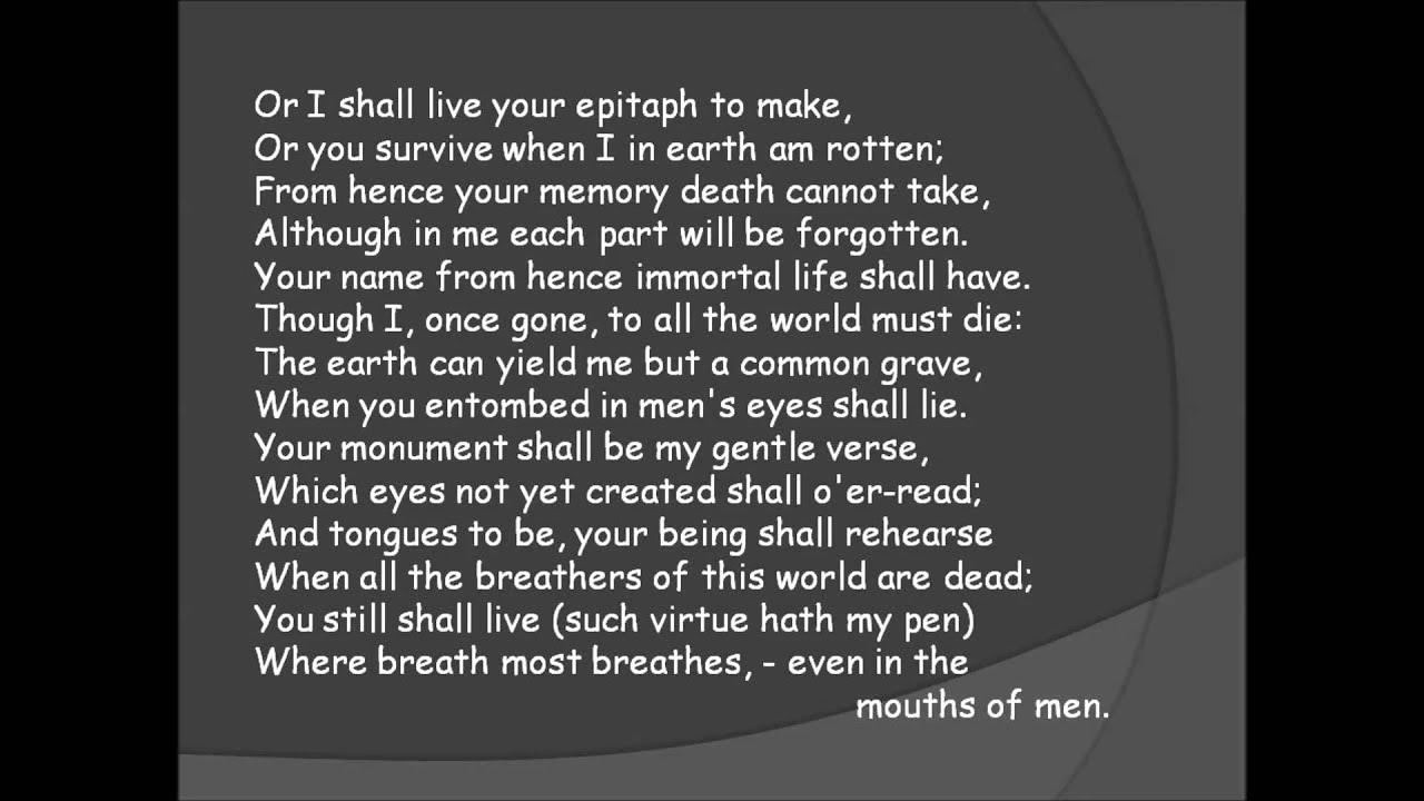 shakespeare sonnet 81