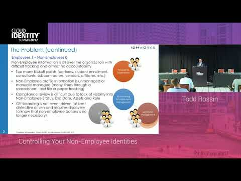 6/21 | IDMWORKS: Controlling Your Non-Employee Identities | CIS 2017
