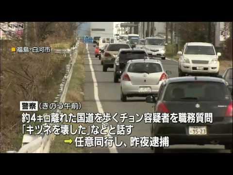 S. Korean man nabbed for vandalizing statues at Fukushima shrine