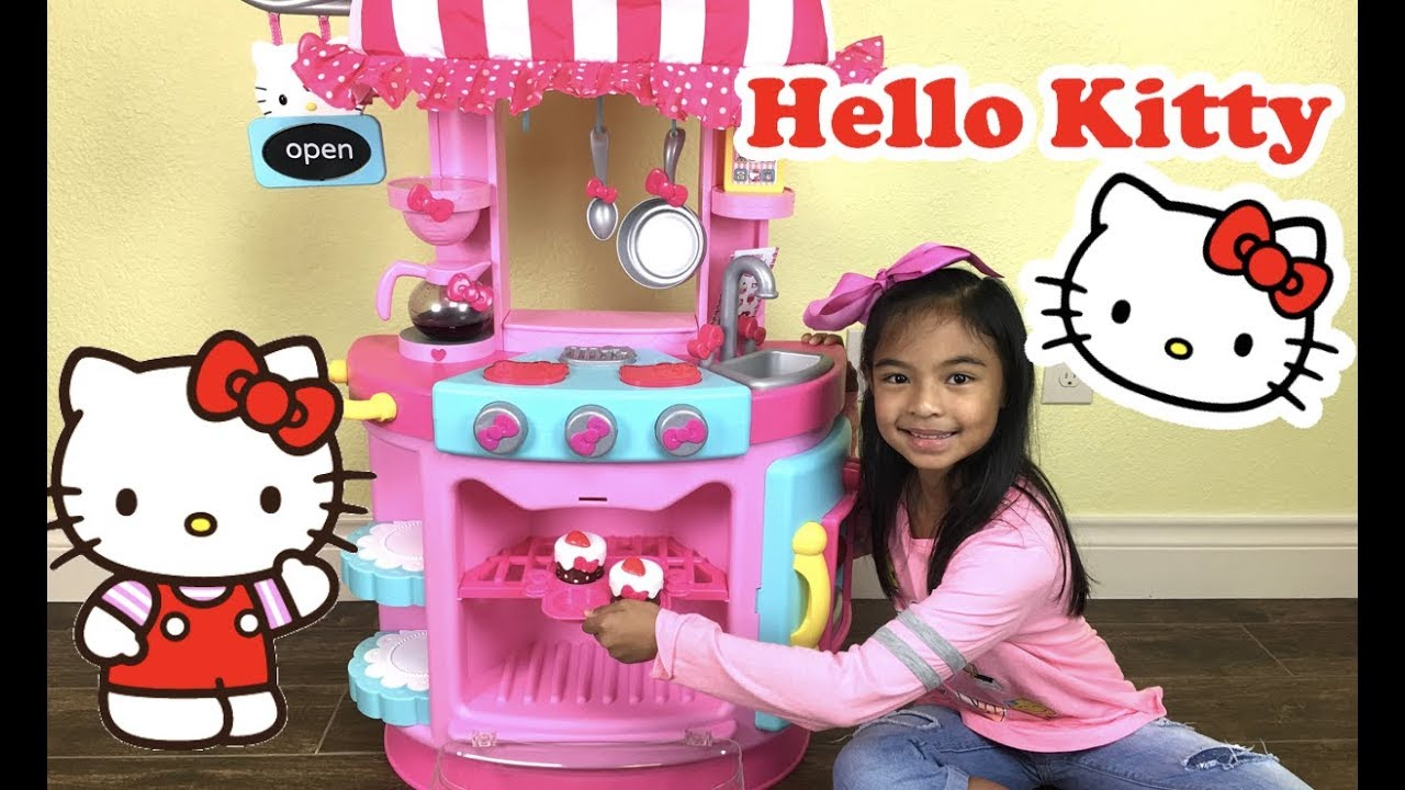 Hello Kitty Kitchen Cafe Unboxing Toys Academy Youtube