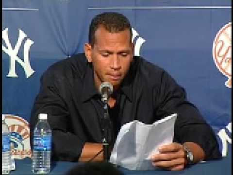 alex rodriguez s steroid press conference youtube