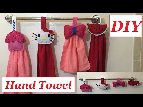 DIY Kitchen Hand Towel or Bathroom Hand Towel Ideas Cute and Easy to make #28