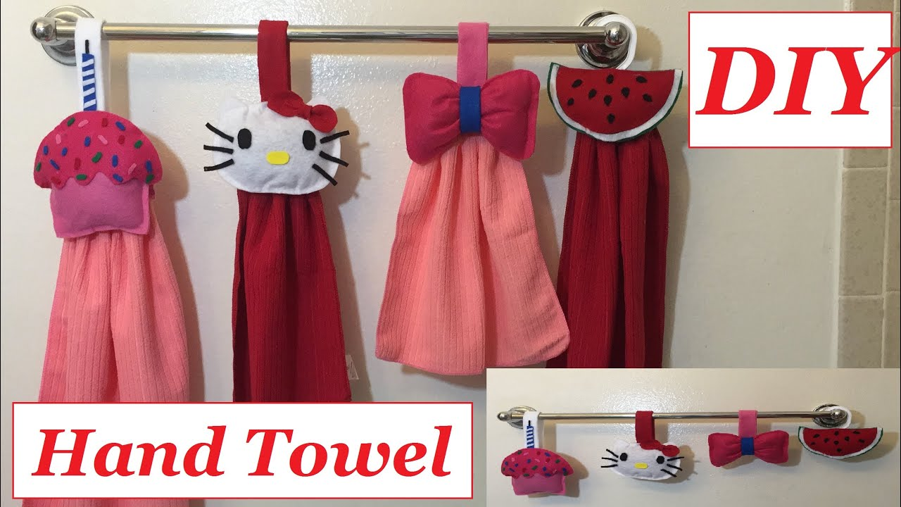 diy kitchen hand towel or bathroom hand towel ideas cute and easy to make 28 youtube - Kitchen Hand Towels
