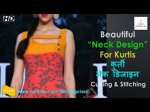 How to make Designer Neck for Kurtis, Kurti Neck Design Cutting and Stitching
