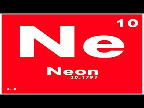 Study Guide 10 Neon Periodic Table Of Elements Youtube