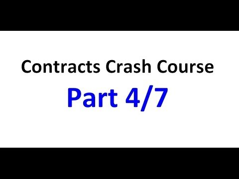 Contracts - Exam Crash Course Part 4/7