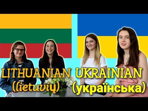 Similarities Between Lithuanian and Ukrainian