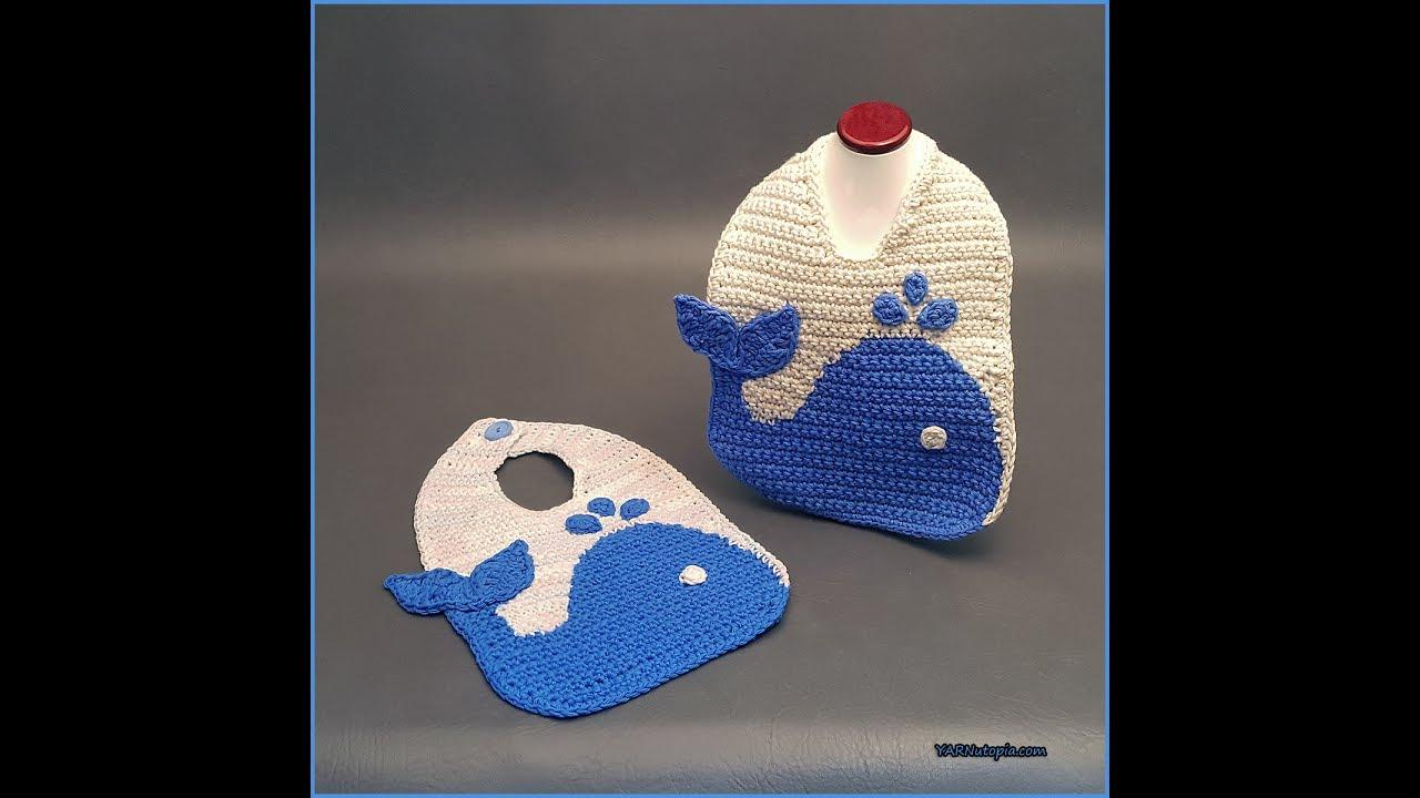 5556f112a Crochet Tutorial: The Blue Whale Baby Bib - YARNutopia by Nadia Fuad ...