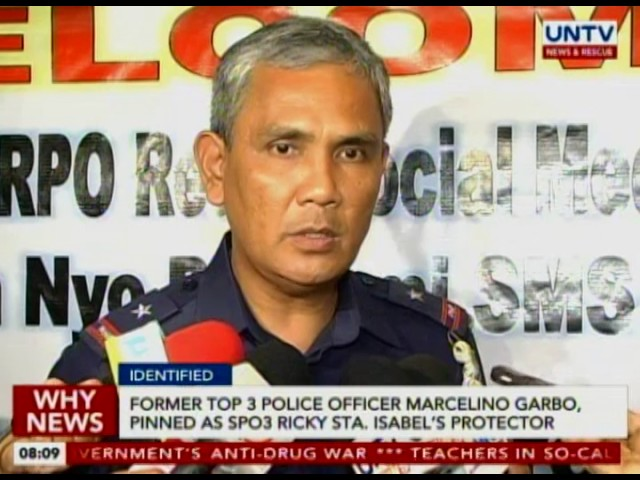 Ex- Top 3 Police Officer Marcelo Garbo, pinned as SPO3 Ricky Sta. Isabel's protector