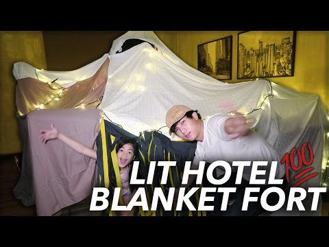 Thumbnail: WE TURNED OUR HOTEL ROOM INTO A FORT | Ranz and Niana