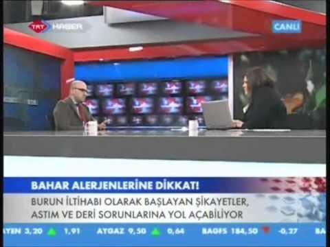 Op.Dr.Süreyya Şeneldir - Bahar aylarında alerjik nezle oluşumunun nedenleri? ( Trt Haber )