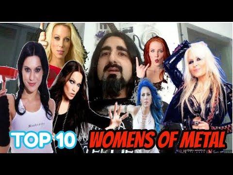TOP 10 - MUJERES DEL METAL ⚡ WOMENS OF METAL | Rock Machine