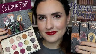 NEW ColourPop HOCUS POCUS Collection | Halloween Collection Swatches, Tutorial Review