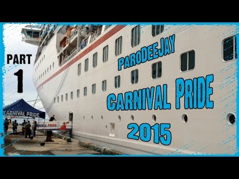 Carnival Pride Cruise Vlog 2015 - Day 1 (Part 1) - Delayed Embarkation - ParoDeeJay