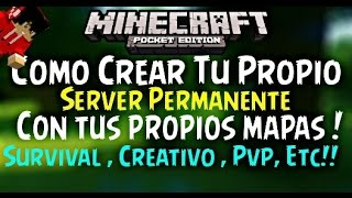 Como Crear Tu Propio Server Permanente |Para Minecraft Pocket Edition 0.12.0 - 0.12.3 O Futuras!