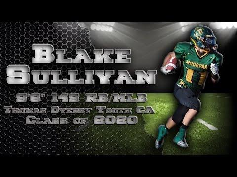 Blake Sullivan - Youth Football Season Highlights - Class of 2020  -  IGR Sports