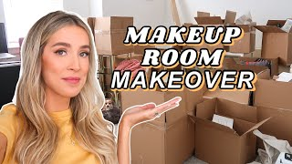 MAKEUP ROOM & OFFICE TRANSFORMATION: UNPACKING, DECLUTTERING, DECOR | leighannsays