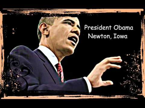 President Obama Speech Newton Iowa