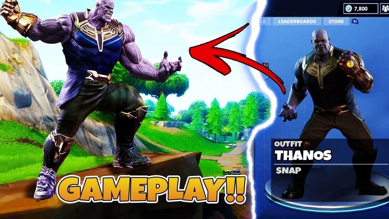 New Thanos Gameplay In Fortnite Battle Royale How To