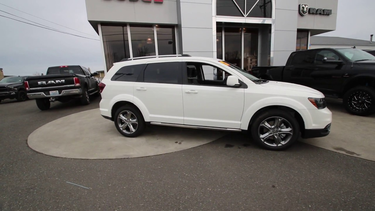 2017 Dodge Journey Crossroad Plus Vice White Ht598653 Mt Vernon Skagit