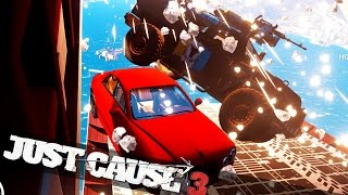 JUST CAUSE 3 CAR BOMBING FROM A PLANE! :: Just Cause 3 Crazy Stunts