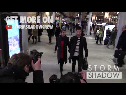 EXCLUSIVE: Cheryl Cole and husband Jean-Bernard Fernandez-Versini leaving Paris Gare du Nord