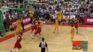 Yi Jianlian Yao Ming & Sun yue 5 nice dunks in one game