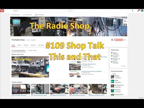 #109 Shop Talk This and That