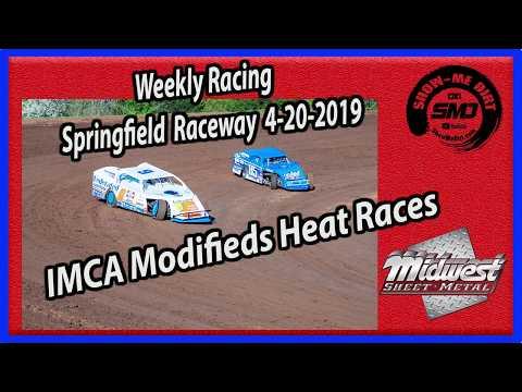 S03 E184 IMCA Modifieds Heat Races - Weekly Racing Springfield Raceway - 4-20-2019 #DirtTrackRacing