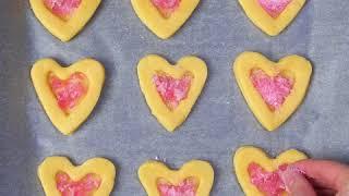 Рецепт песочного печенья с карамелью | Песочное печенье на день Святого Валентина
