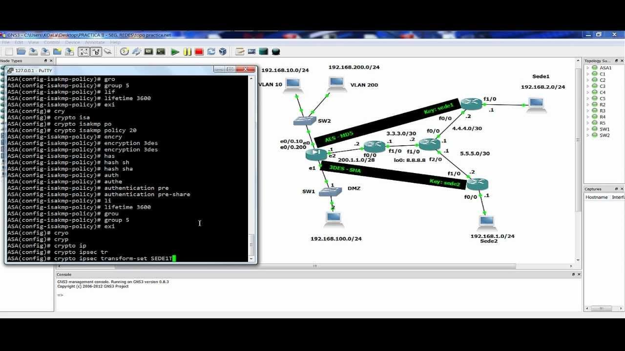 Cisco ASA - Double tunnel IPSec with Zero NAT & InterVLAN (VPN Site to Site) Español/Inglés - YouTube