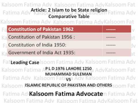 Comparative Study of the Constitution of Pakistan Part 1