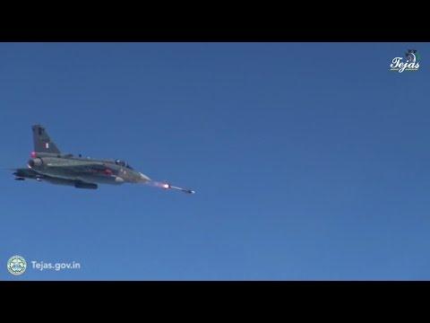 LCA Tejas Fires Derby Missile