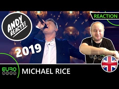 UNITED KINGDOM EUROVISION 2019 REACTION: Michael Rice - 'Bigger Than Us' | ANDY REACTS!