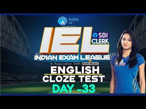 SBI PO 2018 | 80 Day Study Plan SBI CLERK PRE | Cloze Test | English | Day 33 | First Wall