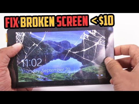 How To FIX A Broken/ Cracked Tablet Screen- CHEAP!!!